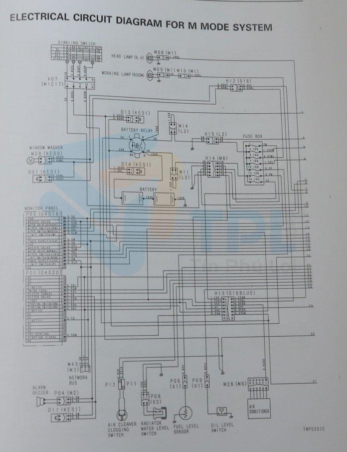 sơ đồ mạch điện máy xúc PC600