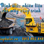 Định mức tiêu thụ nhiên liệu - công thức tính cho máy công trình - tinphuloi.vn