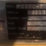 Các đời máy xúc Komatsu – ký hiệu trên máy xúc máy đào - tinphuloi.vn